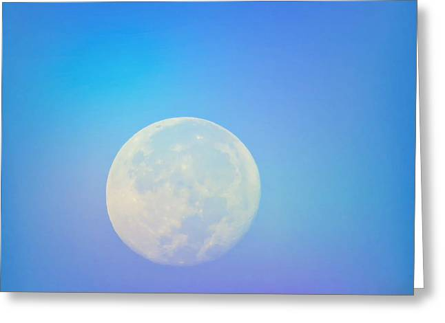 Taurus Almost Full Moon Blend Greeting Card