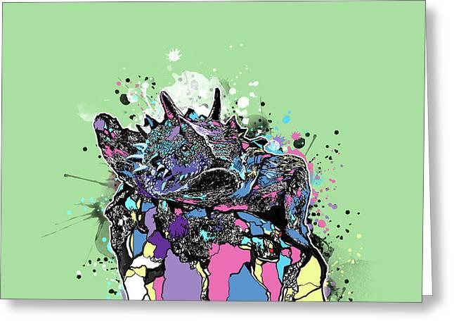 Tcu Horned Frog Fort Worth Pop Art Greeting Card