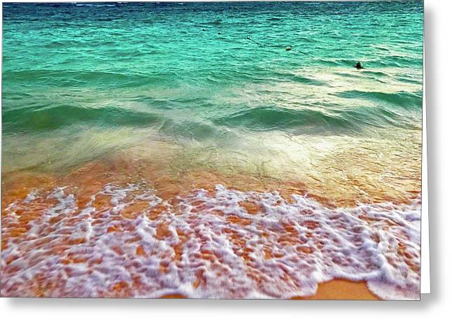 Teal Shore  Greeting Card