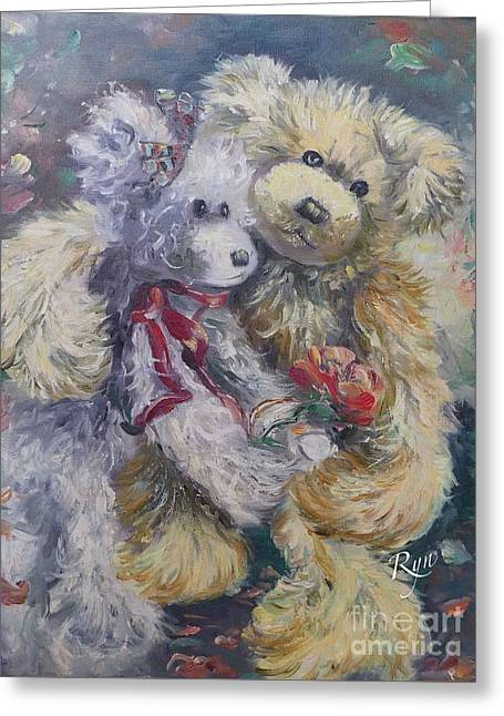 Teddy Bear Honeymooon Greeting Card