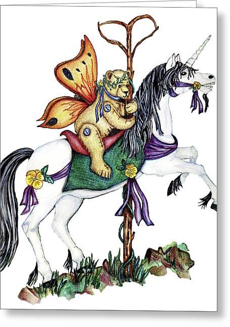 Teddy's Unicorn Greeting Card