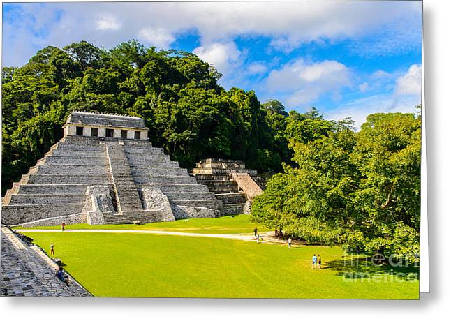 Temple Of The Inscriptions, Palenque Greeting Card