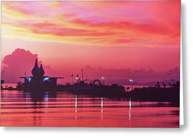 Temple On The Sea Greeting Card
