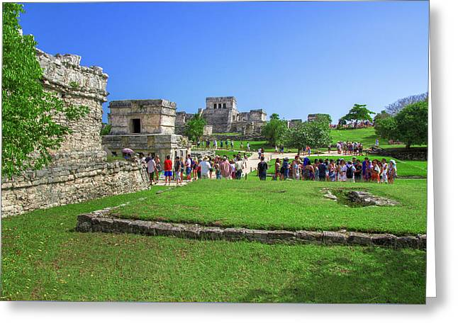 Temples Of Tulum Greeting Card