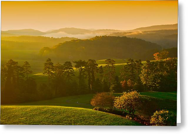 Smokey Mountain Sunrise Greeting Card