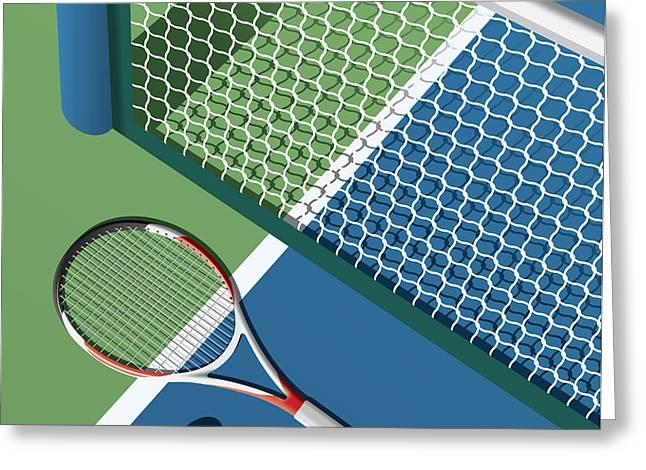 Tennis Court Greeting Card