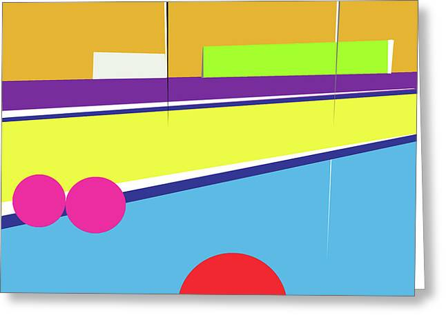 Tennis In Abstraction Greeting Card