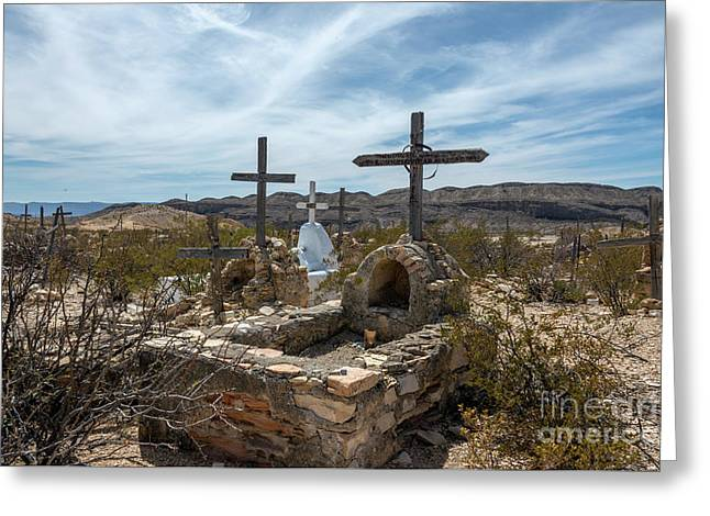 Greeting Card featuring the photograph Terlingua Cemetery by Joe Sparks
