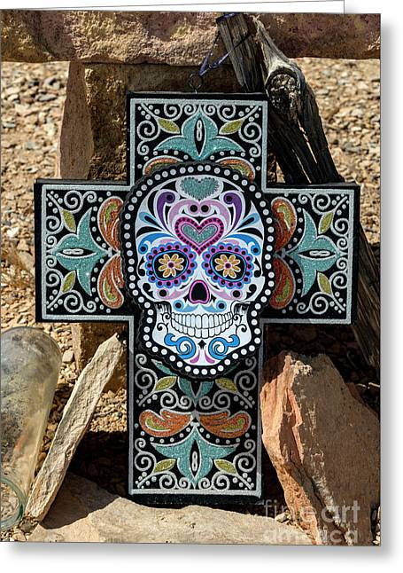 Greeting Card featuring the photograph Terlingua Cross by Joe Sparks