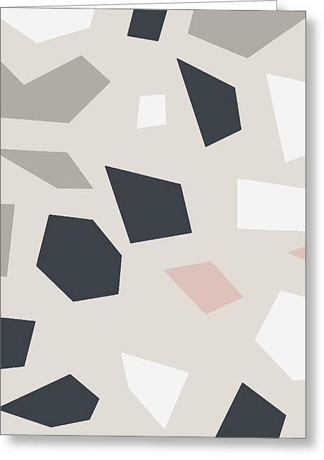 Terrazzo 3- Art By Linda Woods Greeting Card