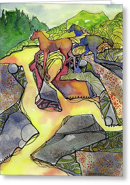 Tevis Ponies Greeting Card