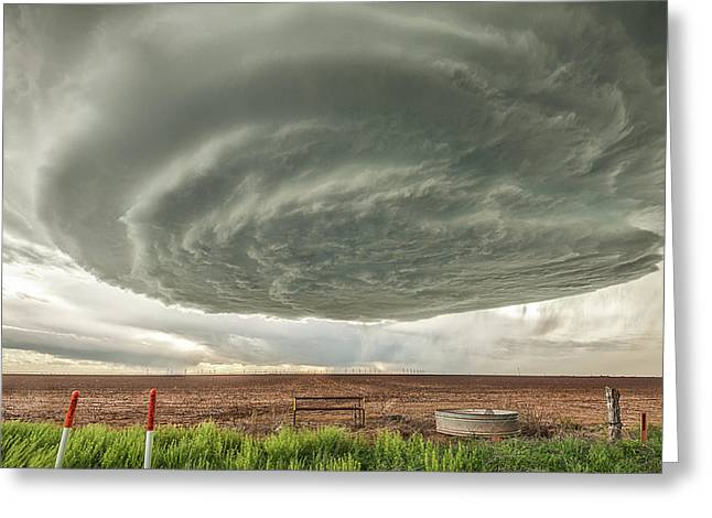 Texas Panhandle Wall Cloud Greeting Card