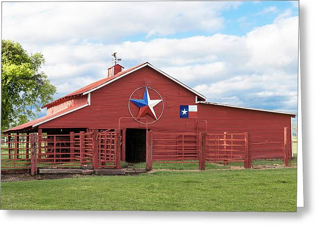 Greeting Card featuring the photograph Texas Red Barn by Robert Bellomy
