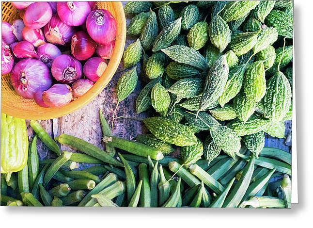 Thai Market Vegetables Greeting Card
