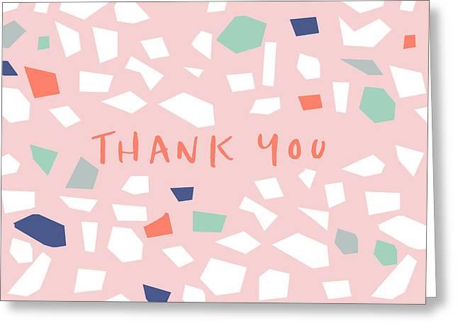 Thank You Modern Confetti- Art By Linda Woods Greeting Card