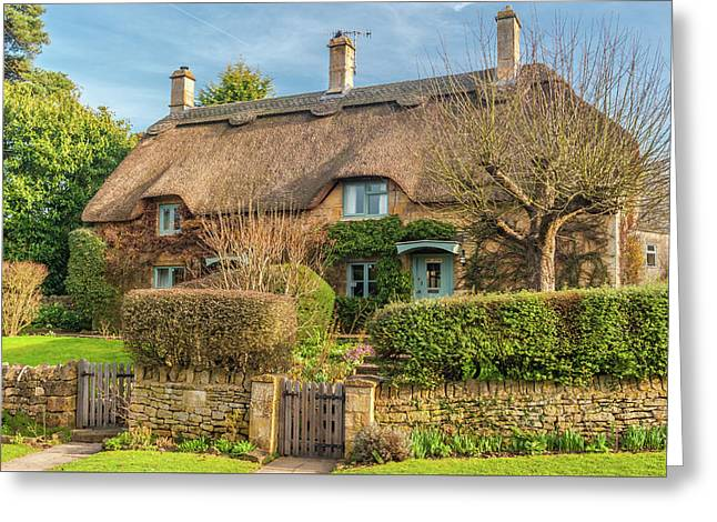 Thatched Cottage In Chipping Campden, Gloucestershire Greeting Card by David Ross