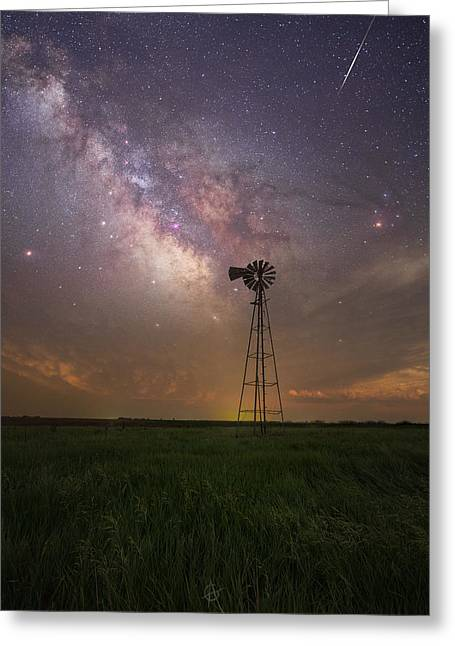 Greeting Card featuring the photograph That's My Kind Of Night  by Aaron J Groen