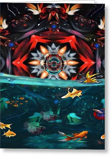 The Abstract Fish Tomb Greeting Card
