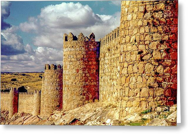 The Ancient City Of, Avila, Spain - Medieval City Walls Greeting Card