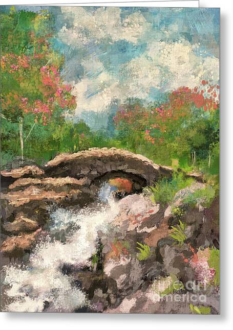 The Ashness Bridge In Spring Greeting Card