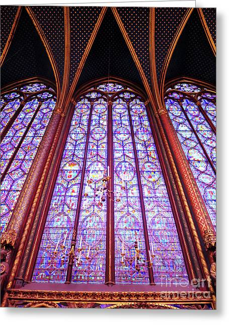 Greeting Card featuring the photograph The Awe Of Sainte Chappelle by Rick Locke