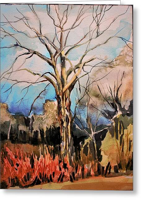 The Barren Tree Greeting Card