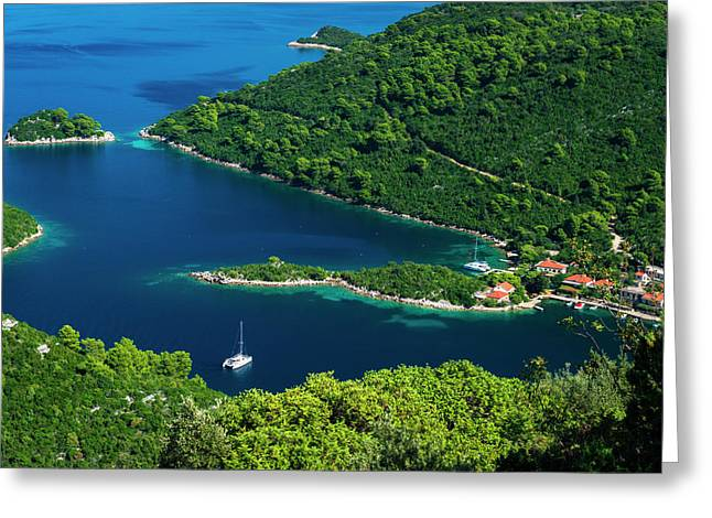 The Bay At Prozurska Luka, Mljet Greeting Card by Russ Bishop