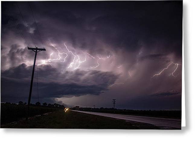 The Best Supercell Of The Summer 040 Greeting Card