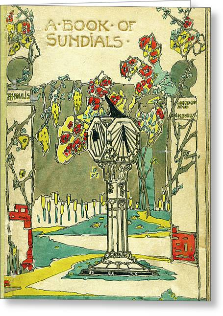 Cover Design For The Book Of Old Sundials Greeting Card