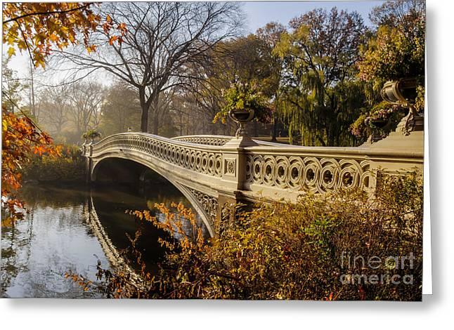 The Bow Bridge  Is A Cast Iron Bridge Greeting Card