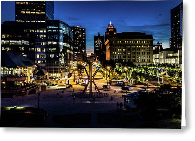 Greeting Card featuring the photograph The Calling At Blue Hour by Randy Scherkenbach