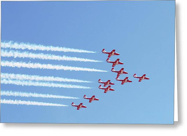 The Canadian Snowbirds Greeting Card