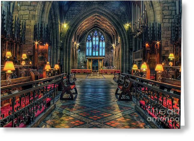 The Cathedral Church Of Saints Asaph And Cyndeym Greeting Card