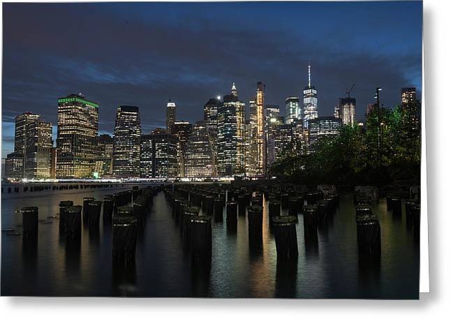 The City Alight Greeting Card
