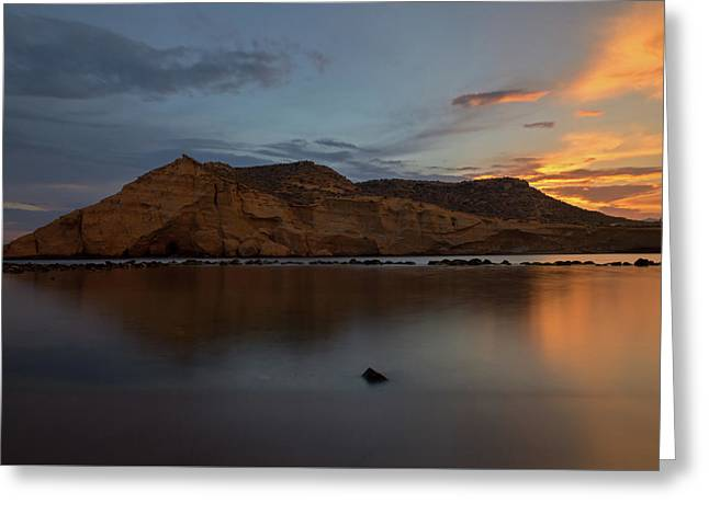 The Closed Cove In Aguilas At Sunset, Murcia Greeting Card