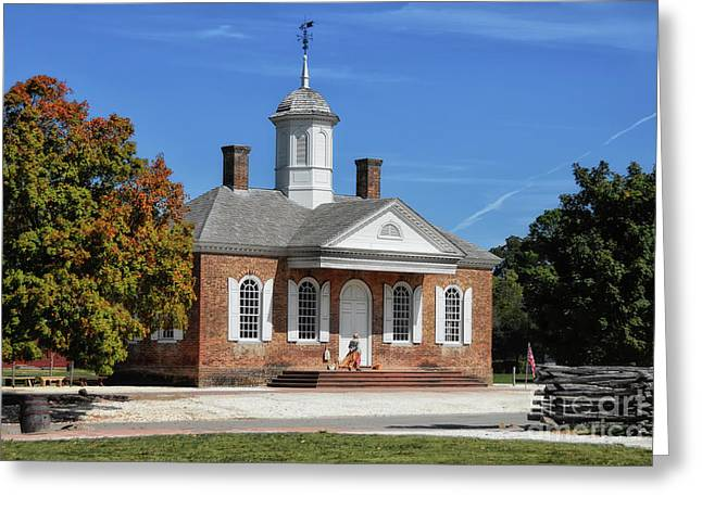 The Colonial Williamsburg Courthouse Greeting Card