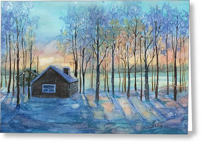The Color Of Winter Is White ? Greeting Card