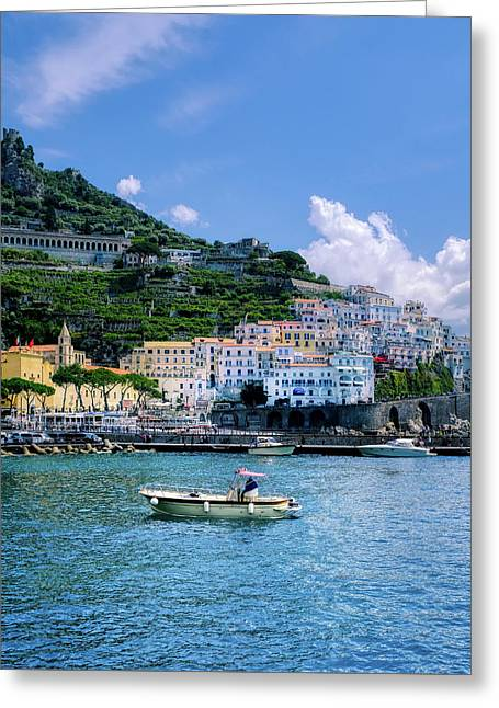 Greeting Card featuring the photograph The Colorful Amalfi Coast  by Robert Bellomy