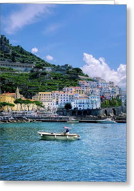 The Colorful Amalfi Coast  Greeting Card