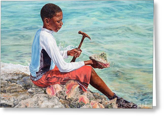 The Conch Boy Greeting Card