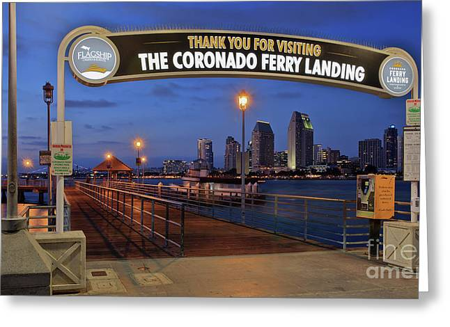 The Coronado Ferry Landing Greeting Card