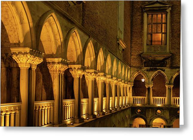 Greeting Card featuring the photograph The Doge's Palace -- Venice by Tim Bryan