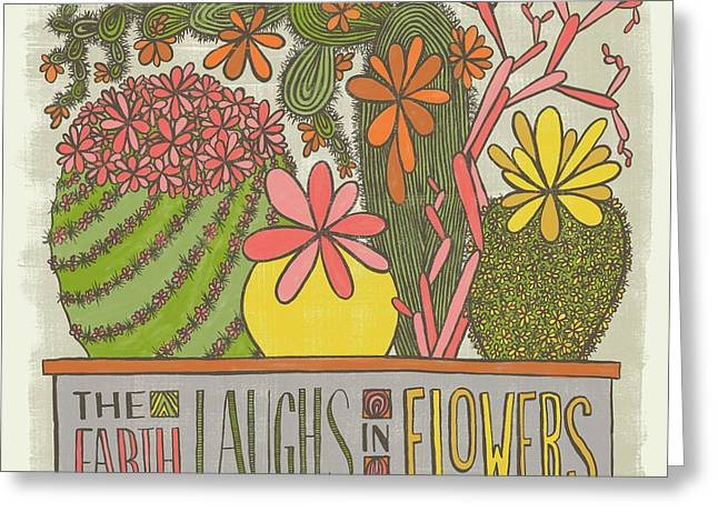 The Earth Laughs In Flowers Ralph Waldo Emerson Quote Greeting Card