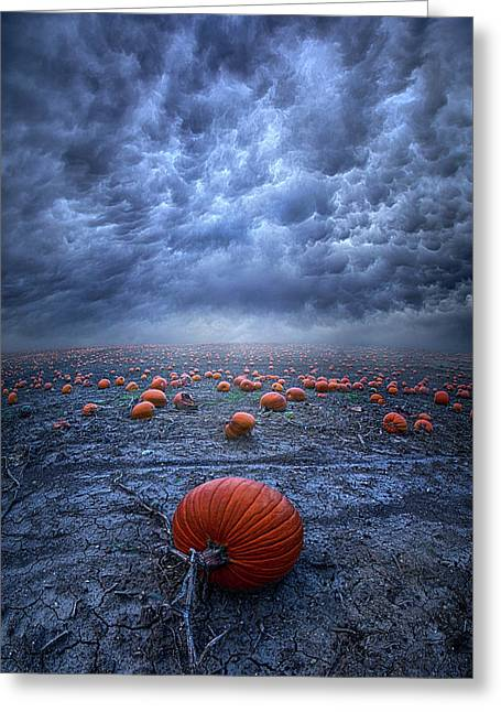 Greeting Card featuring the photograph The End Was Left Behind by Phil Koch