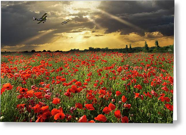 Greeting Card featuring the photograph The Final Sortie Wwi Version by Gary Eason