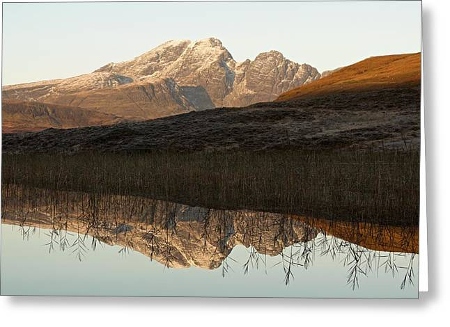 Greeting Card featuring the photograph The First Hint Of Winter At Loch Cill Chriosd by Stephen Taylor