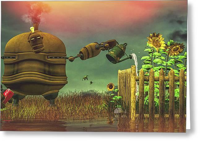 The Gardener Greeting Card