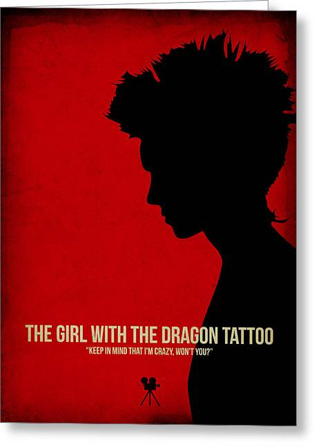 The Girl With A Dragon Tattoo Greeting Card