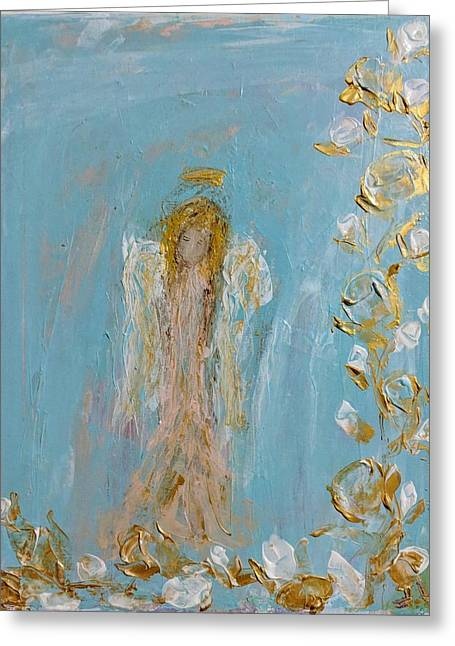 The Golden Child Angel Greeting Card