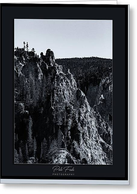 Greeting Card featuring the photograph The Grand Canyon Of The Yellowstone by Pete Federico